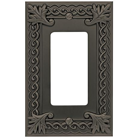 Venetian Collection Aged Bronze Single Rocker Wall Plate
