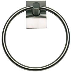 "Zephyr 7 1/2"" Wide Stainless Steel Towel Ring"