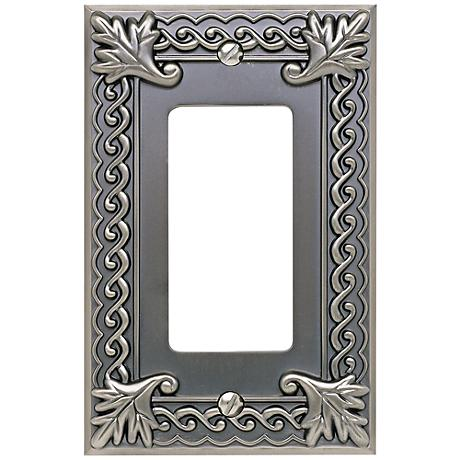 Venetian Collection Pewter Single Rocker Wall Plate
