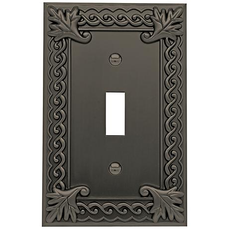 Venetian Collection Aged Bronze Single Toggle Wall Plate