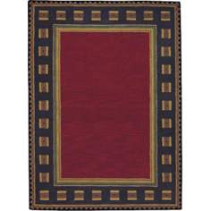 Northwoods Ruby Red Area Rug