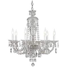 "Schonbek Sterling Collection 25"" Wide Crystal Chandelier"