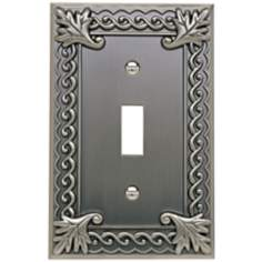 Venetian Collection Pewter Single Toggle Wall Plate