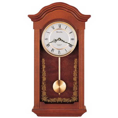 "Bulova Baronet Chime 22 1/2"" Wide Wall Clock"