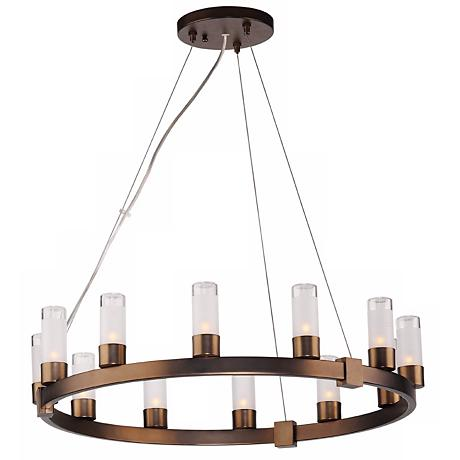 Forecast Revolution Bronze Round 12-Light Chandelier