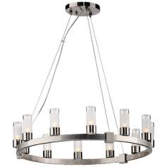 Forecast Revolution Satin Nickel Round 12-Light Chandelier