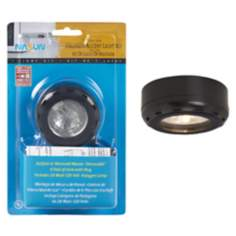 Black Halogen 20 Watt Single Puck Recessed Light Kit