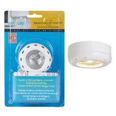 White Halogen 20 Watt Plug In Puck Light