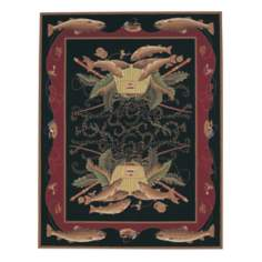 Dick Idol Lake Champlaine Black Area Rug