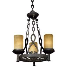 "La Parra Collection 18 1/2"" Wide Three Light Chandelier"