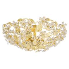 "Crystorama Swarovski Crystal 25"" Wide Ceiling Light Fixture"