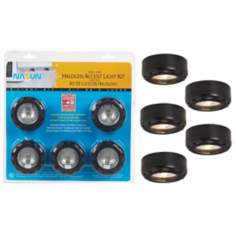 Black Halogen 20 Watt 5-Pack Puck Light Kit
