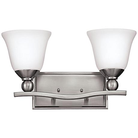 "Hinkley Bolla 16"" Wide Brushed Nickel Bathroom Light"