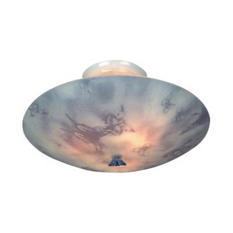 "Butterfly Children's 17"" Wide Ceiling Light Fixture"