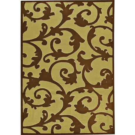 Zuelo Green-Brown Outdoor Rug