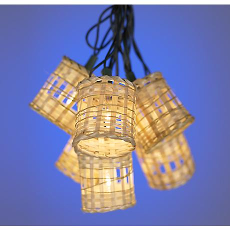 Ten Light Bamboo Lantern Party Light Set