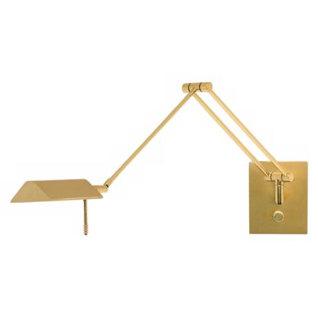 Holtkoetter Bernie Brass Swing Arm Wall Lamp