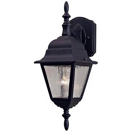 "Bay Hill Collection 16 1/2"" High Black Finish Wall Light"