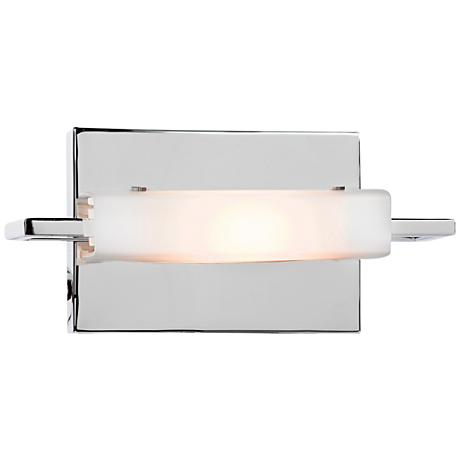"Styx 9 3/4"" Wide Chrome Opal Glass Wall Sconce"
