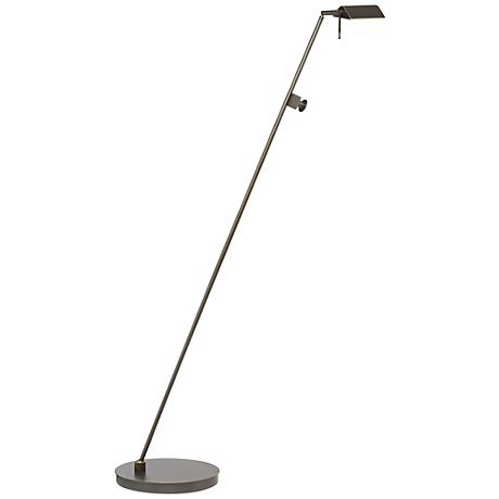 Holtkoetter Bernie Series Tilted Base Old Bronze Floor Lamp