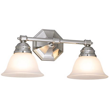 "Kathryn 8 1/2"" High Chrome Finish Dual Light Bath Fixture"
