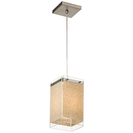 "Forecast Pacifica Collection 6"" Wide Nickel Pendant Light"