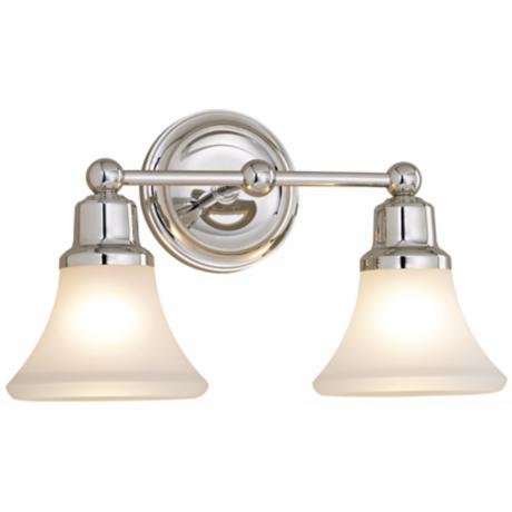 Elizabeth Polished Nickel Two Light Bath Fixture
