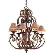 "Metropolitan Zaragosa 34"" Wide Golden Bronze Chandelier"
