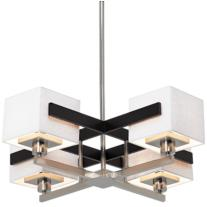 Possini Euro Mirrored Grid Chandelier
