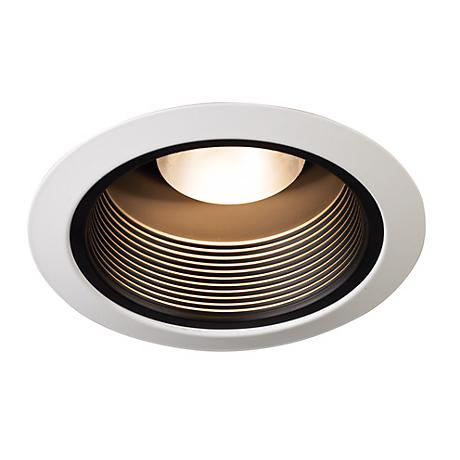 "Juno 5"" Black Baffle White Trim Recessed Light"