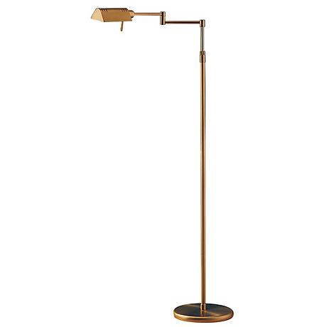 Holtkoetter Antique Brass Pharmacy Floor Lamp