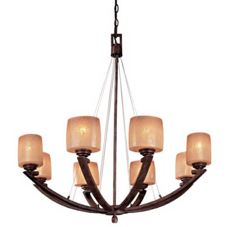 Raiden Collection Eight Light Chandelier