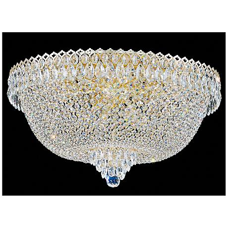 "Schonbek Camelot 24""W Aurelia 14-Light Crystal Ceiling Light"