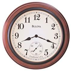"Bulova Richmond 16"" Wide Wall Clock"