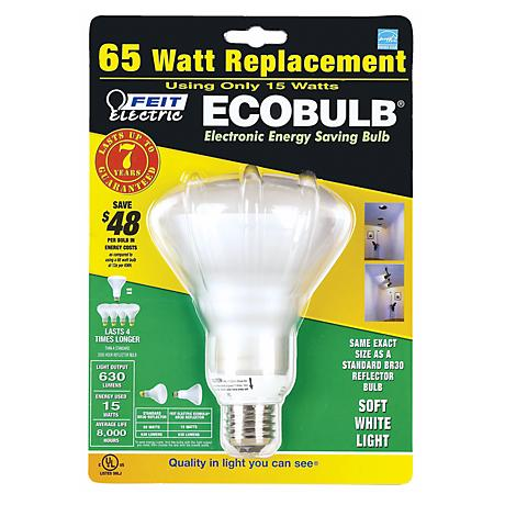 15 Watt BR 30 Energy Saving CFL Reflector Light Bulb