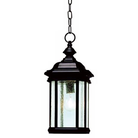 "Kirkwood Black Finish 18"" High Outdoor Hanging Light"