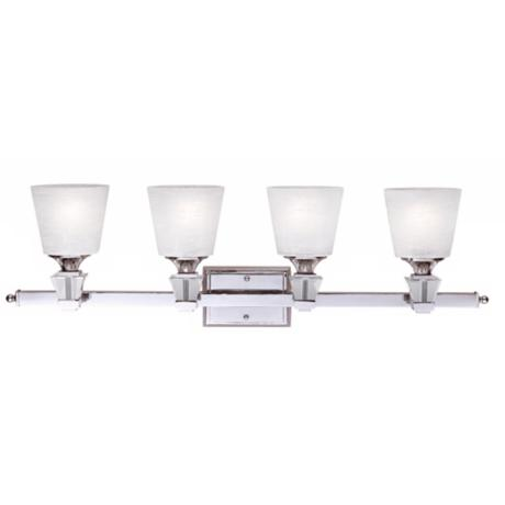 "Deluxe Collection 33 1/2"" Wide Four Light Bathroom Fixture"