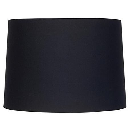 Black Fabric Drum Shade 11x12x8.5 (Spider)