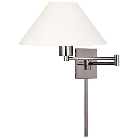 George Kovacs Boring Nickel Plug-In Swing Arm Wall Lamp