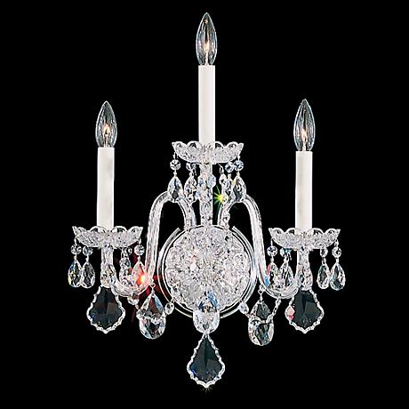 "Schonbek Olde World 20"" High Swarovski Crystal Wall Sconce"