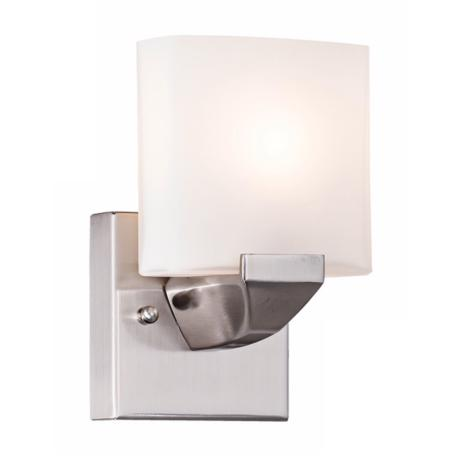 "Possini Euro Contempo Brushed Steel 8"" High Wall Sconce"