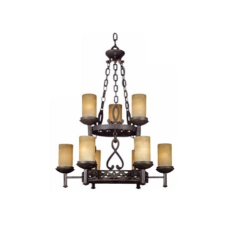 "La Parra Collection 30"" Wide Nine Light Chandelier"