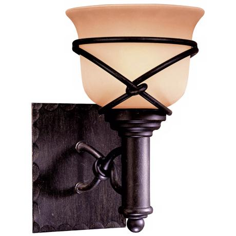 "Minka Knotted Iron 10 1/4"" High Wall Sconce"