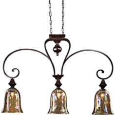 Elba Collection Three Light Kitchen Island Chandelier
