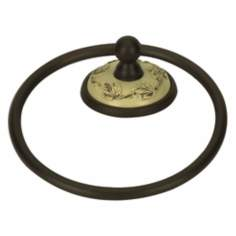 "Bordeaux 6"" Ivory-Bronze Towel Ring"