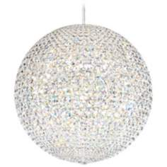 "Schonbek Da Vinci Collection 24"" Wide Crystal Pendant Light"