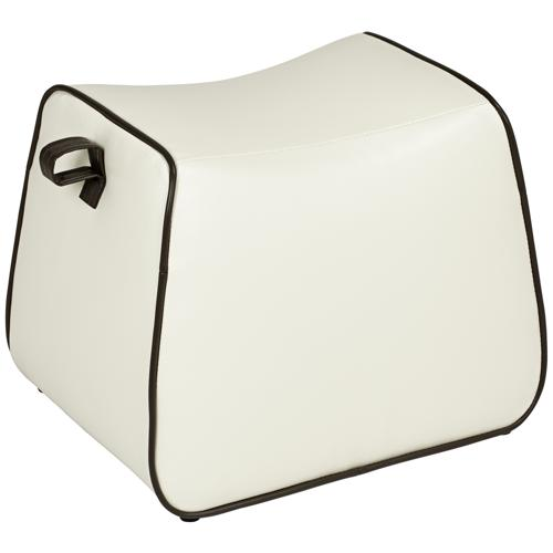 Rory Off-White Saddle Ottoman (8C218)