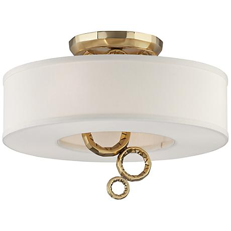"Corbett Continuum 18 1/4""W Polished Brass Ceiling Light"