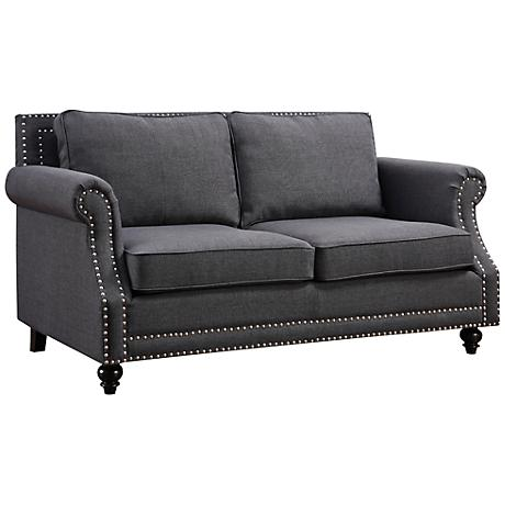 Camden Gray Linen Loveseat