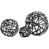 Strap Black Bronze Large Decorative Sphere